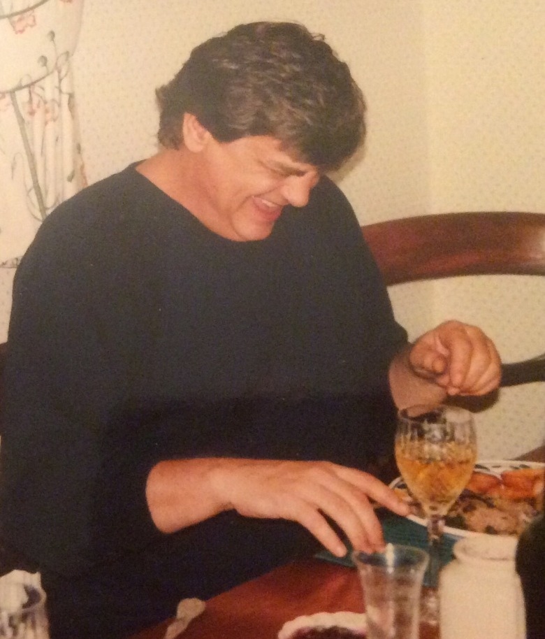 Phil enjoying Sunday lunch at my home circa early 90's Terry Slater