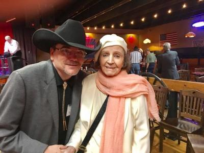 Margaret in Nashville June 2017 with radio host Donald Caldwell