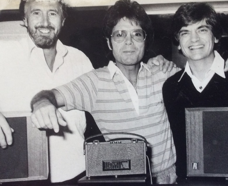 Myself,Cliff and Phil---recording 'She Means Nothing To Me' in the UK Terry Slater